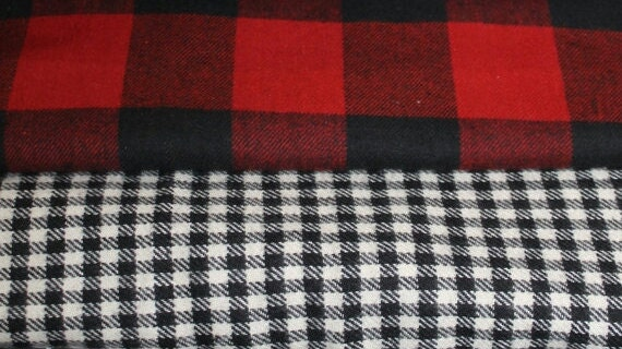 Soft Flannel Plaid Fitted Sheet Red Black Buffalo Check