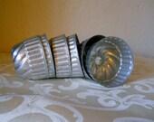 Vintge Aluminum Small Jello or Soap Molds with Swirl Design