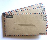 Clearance Sale, Airmail Envelopes, Inventory Reduction Sale, Wedding Envelopes, Vintage Airmail Envelopes, Paper Goods