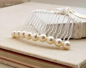 Bliss Simple Pearl Hair Comb