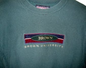 80's green Brown University sweatshirt size L