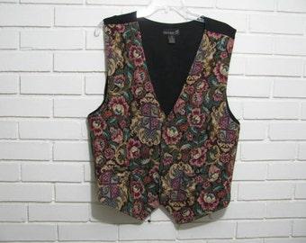 Man's vintage 1980's brocade vest size L or 42