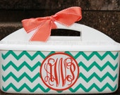 Personalized Chevron Shower Caddy - Must-Haves for Camp, Dorm Room & Sorority House - Best Selling Graduation Gift - Assorted Colors/Designs