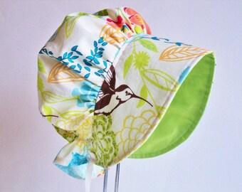 Baby Bonnet - Baby Sun Hat - Sun Bonnet - Girls Bonnet - Summer Bonnet - Baby Girl Bonnet - Toddler Bonnet - Newborn Bonnet - Made To Order