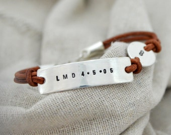 Personalized Silver Bracelet - Two Charm - Customize