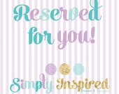 Reserved for Michelle M Happy 1st Birthday and High Chair Banner Sept 17th