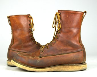 60s RED WING Irish Setter Moc Toe Americana Sport Hunting Boots 10 D