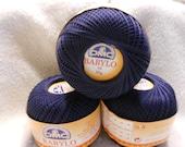 DMC BABYLO crochet thread size 10..Navy/dark blue