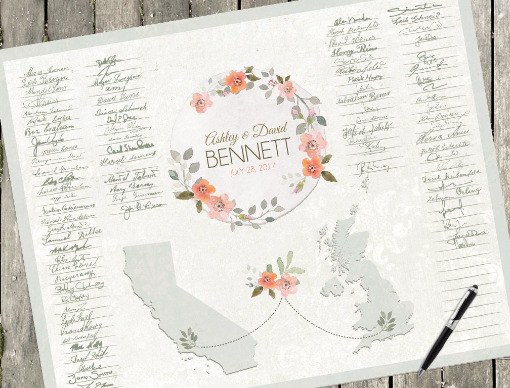 Boho Wedding Guest Sign Book Alternative