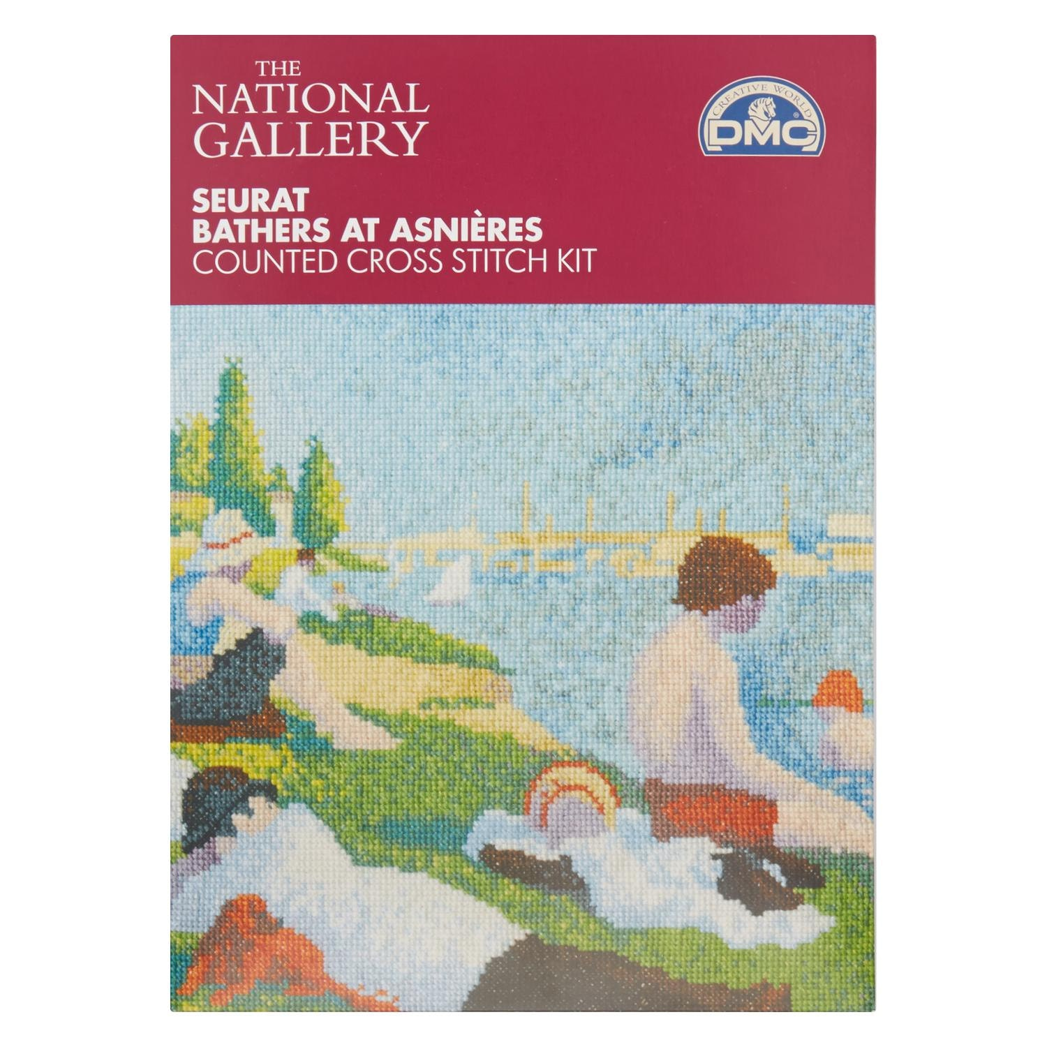 Seurat 39 bathers at asnieres 39 cross stitch kit for Design your own bathers