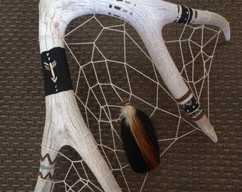 Deer antler dream catcher