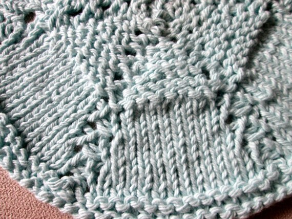 Round Dishcloth Knitting Pattern, Circular Dishcloth ...