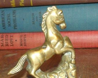 Vintage Brass Horse Incense Holder