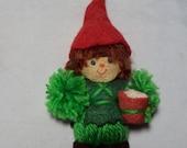 Hallmark Yarn Tree Ornament Drummer Boy 1975 Package Trimmer