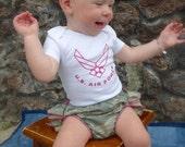 Parley Ray Custom Air Force Baby Girl or Boys Shirt Daddy's Girl Bodysuit
