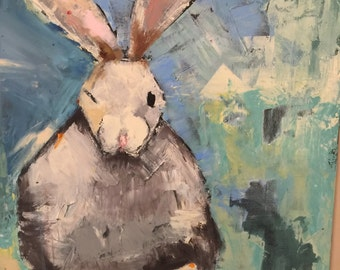 Hoppy Bunny painting