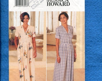 Butterick 4385 Designer Jessica Howard Loose Fitting Front Button Dress with Shoulder Pads Sizes 18..20..22 UNCUT