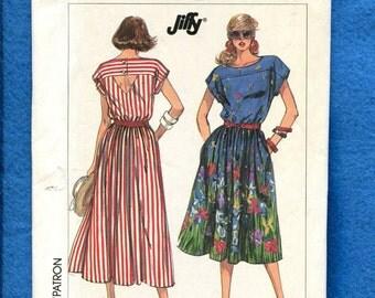 Vintage 1980'S Simplicity 8011 Resort Wear Sun Dress Size 12 to 18 UNCUT