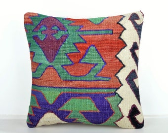 Kilim pillow cover, kp1435, Kilim Pillow, Turkish Pillow, Kilim Cushions, Kilim, Moroccan Pillow, Bohemian Pillow, Turkish Kilim