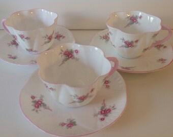 Shelley Rose Spray Dainty Tea Cup and Saucer