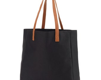 Monogrammed Gameday Totebag Black- Personalized Black Tailgate Tote - Embroidered Tote
