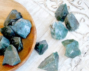 Moss Agate Raw Healing Stones