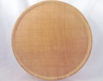 Vintage Round Midcentury Woven Burlap Raffia Resin Serving Tray
