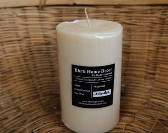 Eco friendly Soy Wax Aroma wax pillar with lavendre scent