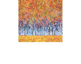 Autumn Treescape A 8x10 Color Photoprint