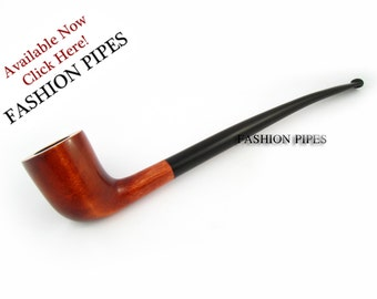 """New Fashion Churchwarden Tobacco Pipe 9.8'' """"Lord of The Rings""""  Long Pipe Smoking Pipe of Pear Wood. Designed for pipe smokers"""
