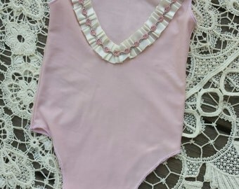 Blush Backless Newborn Romper, Homemade, , Photo Prop, Coming Home Outfit