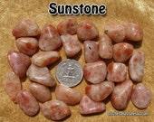 Sunstone (small/medium) tumbled stone for crystal healing