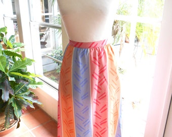 CLEARANCE SALE Vintage Stirling Cooper skirt gathered pastels stripes spring summer: small, medium