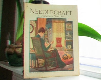 1930 Needlecraft Magazine of Home Arts March Issue Vintage 1930s Sewing