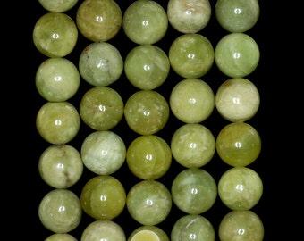 10mm Olive Peridot Gemstone Grade AA Green Round Loose Beads 15.5 inch Full Strand (90183569-780)