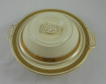 Vintage Art Deco Burgess & Leigh Burleigh Ware 4695 Zenith Covered Vegetable Dish Made in England