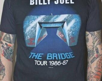 Vintage Billy Joel Concert Tee Shirt