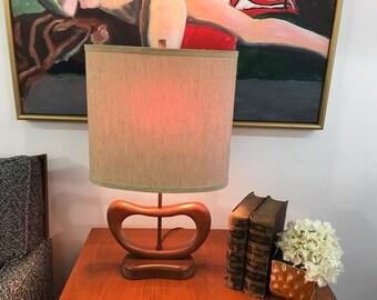 Mid Century Modern Danish sculptural rare lamp