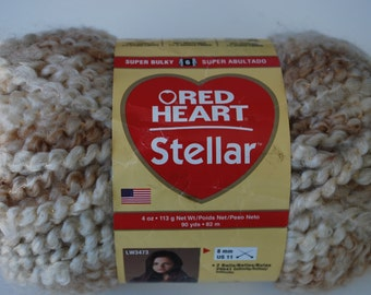 1 skein Red Heart Stellar