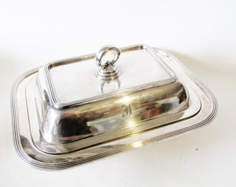 Pairpoint Casserole Dish, Art Moderne Silver Plated Covered Vegetable Dish, Sheffield