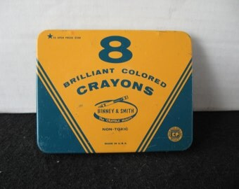 Vintage Crayola Tin by Binney & Smith