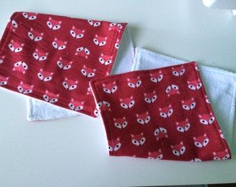 Fox Themed Burp Cloths