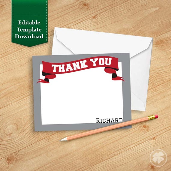 graduation thank you cards template thank you by thepapershamrock. Black Bedroom Furniture Sets. Home Design Ideas