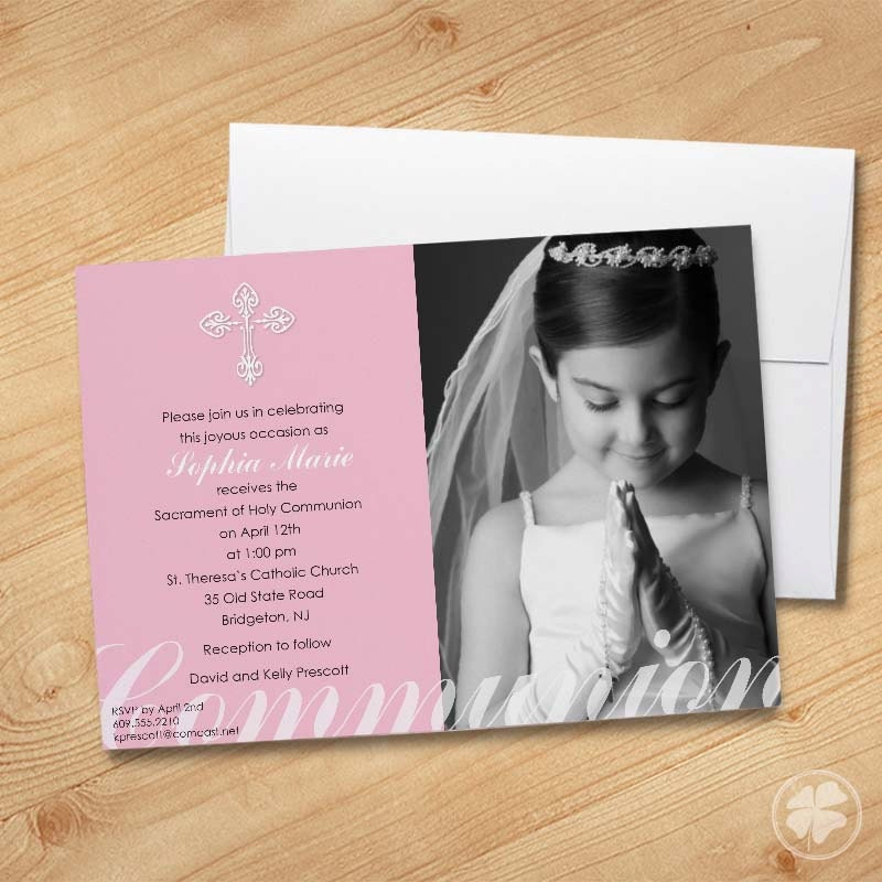 Girl's First Communion Invitations Photo Communion