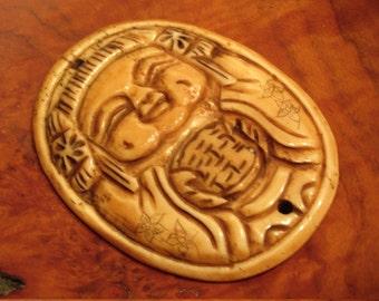 Carved bone figure focal piece..Bone#1