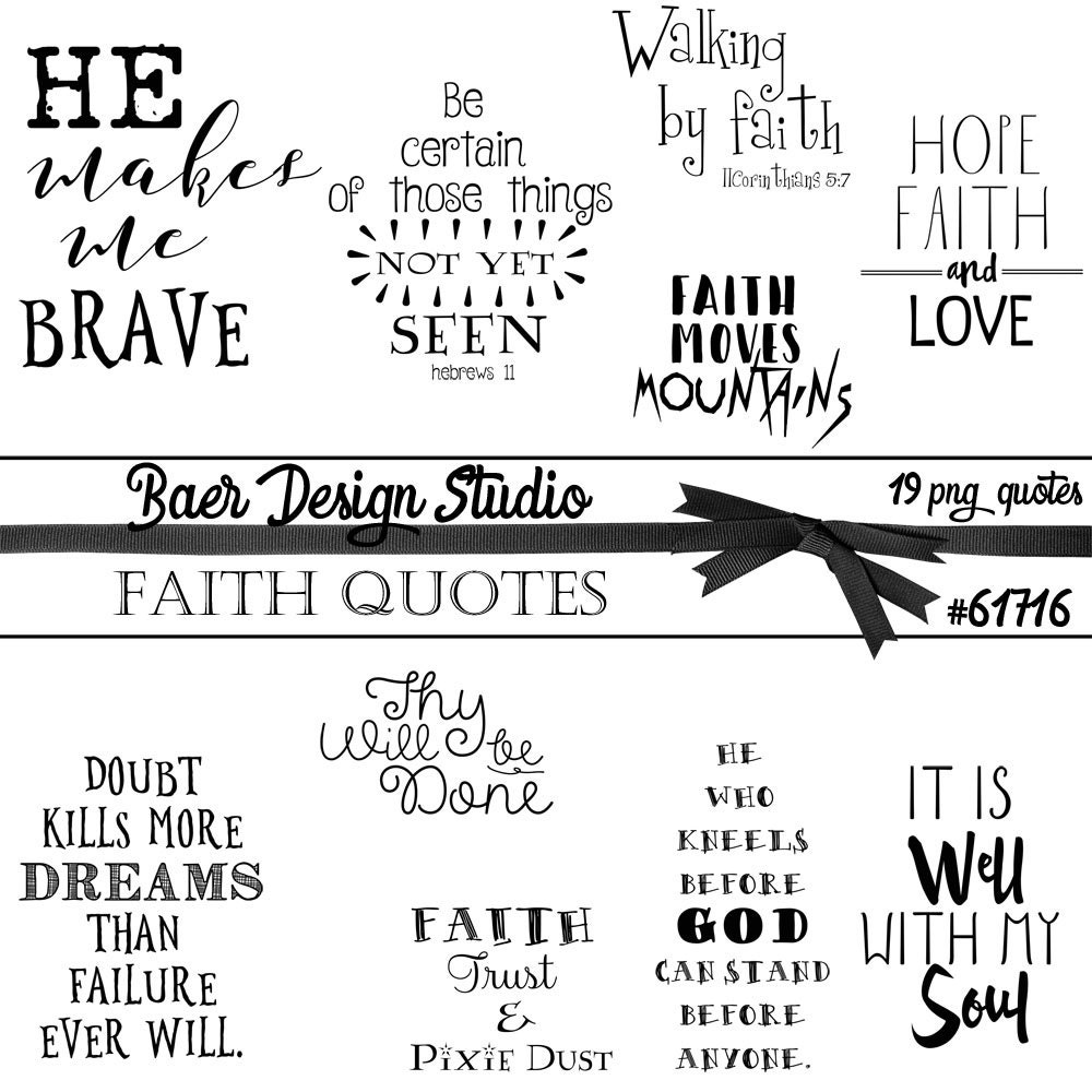 Faith Is Quotes: Printable Quotes, Faith Quotes, Digital Word Art, Quotes