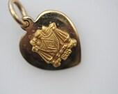 Vintage ZBT Crest Pendant Charm - Zeta Beta Tau Fraternity 1898 10K Gold Charm Pendant