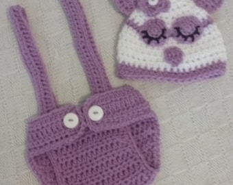 Cricheted Baby Owl Set