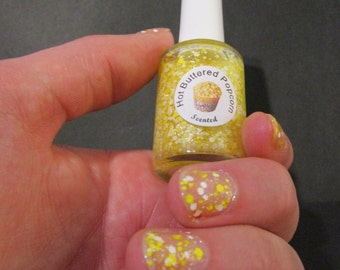 HOT BUTTERED POPCORN Scented Nail Polish
