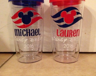Disney Cruise Line Inspired Personalized Tumbler Fish Extender Gifts